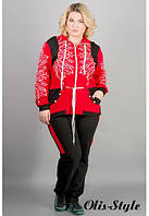 Модный спортивный костюм Марго (красный)