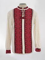 Мужская вязаная рубашка Роман красный