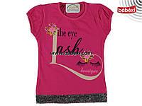 Красивая футболка  для девочек 7 лет.Турция!!! 100 % хлопок!!!