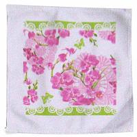 Набор кухонных полотенец хлопок-велюр Орхидея 3 шт. 20 на 20 см, SNT 93206-2