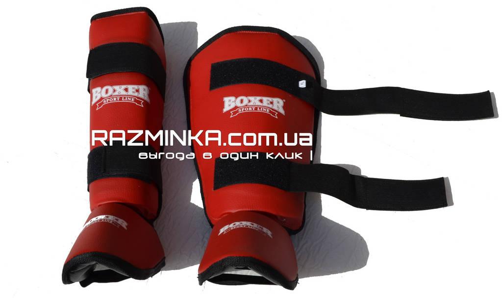 Защита на ноги для единоборств р.XL (кожвинил)