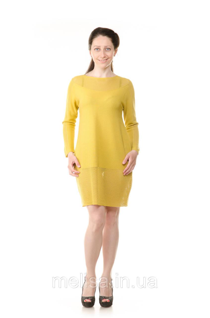 5f5eb1c022d Платье туника желтое вязаное - Интернет магазин женской одежды Melisa в  Харькове
