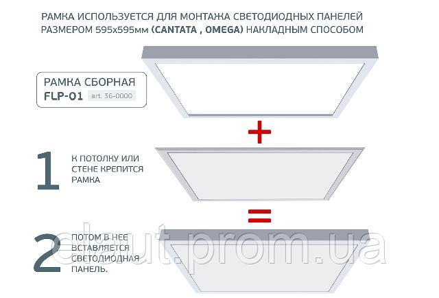 Универсальная рамка для светодиодных панелей