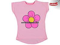 Красивая футболка-туника  для девочек 6, 7, 8, 9 лет.Турция!!! 100 % хлопок!!!
