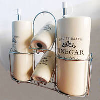 Набор сервировочный для специй, масла и уксуса 4 в 1 «Provence»