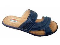 Шлепки мужские кожаные №9, синий