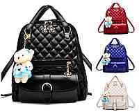 Рюкзак женский кожзам Sweet Bear стеганный сумка