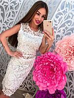 Стильное кружевное платье 02
