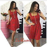Женское модное платье в горошек (4 цвета)