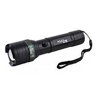 Мощный тактический фонарик 12V Police E6-GREE, ак.26650, компас