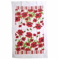 Набор кухонных полотенец хлопок-велюр Красный мак 3 шт. 38 на 63 см, SNT 93208-3