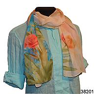 Модный весенний шарф Тюльпан бежевый