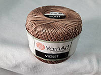 Пряжа Violet YarnArt 100% бавовна беж темний № 0015