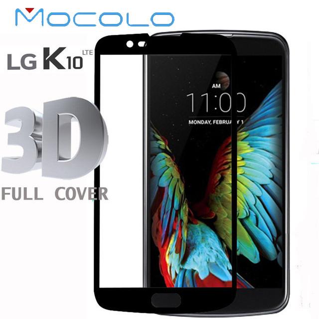 Защитное стекло Mocolo 3D 9H на весь экран для LG K10 K430 черный
