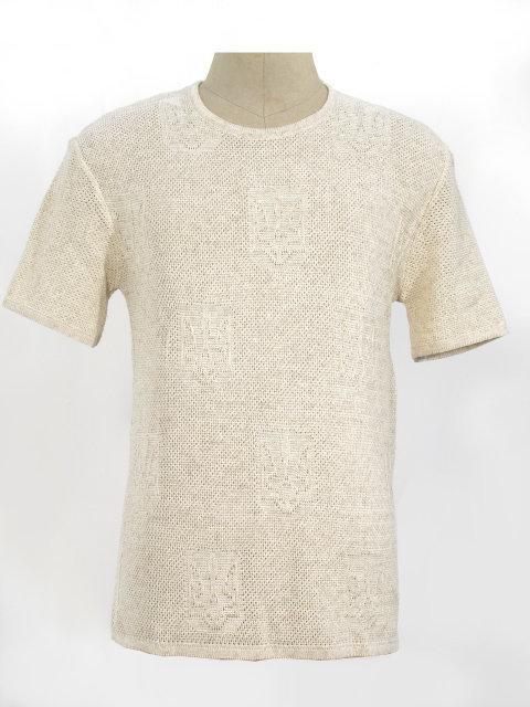 Мужская вязаная рубашка Тризубец (короткий рукав)