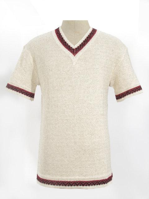 Мужская вязаная рубашка 20243 (короткий рукав)