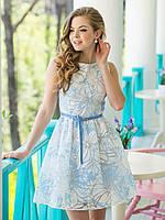 Платье в цветочном принте с ремешком в комплекте ЛЕТО