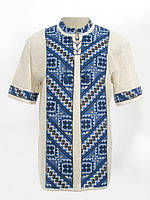 Мужская вязаная рубашка Грыць (короткий рукав)