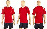 Футбольна форма ZA CO-2558-R(XXL) (р-р XXL, червоний, шорти чорні)