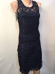 Платье черное ажур