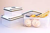 Набор прямоугольных пищевых контейнеров 3ед. (А61)