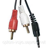 Аудио кабель Mini Jack - 2RCA (3 метра) cheap