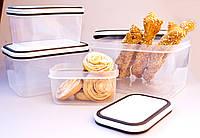 Набор прямоугольных пищевых контейнеров 4ед. (А60)