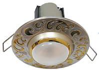 Точечный светильник накладной для натяжных потолков АСКО-УкРЕМ 107B PS/G (R39) E14