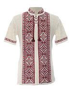 Мужская вязаная рубашка 20265 (короткий рукав)