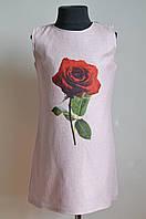 Детское платье для девочки, розовое, подростковое, фото 1