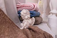 Бежевый детский плед с натуральной подкладкой