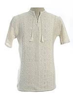 Мужская вязаная рубашка 20269 (короткий рукав)