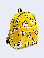 Рюкзак Белые цветы на жёлтом