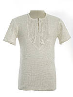 Мужская вязаная рубашка 20270 (короткий рукав)