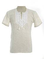 Мужская вязаная рубашка 20271 (короткий рукав)