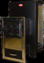 Піч-кам'янка для саун ДПС-8в-виносна з сіткою для каменів.