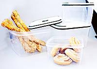 Набор прямоугольных пищевых контейнеров 4ед. (А58)