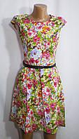 Летнее молодежное платье в цветах