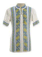 Мужская вязаная рубашка 20276 (короткий рукав)
