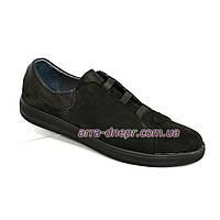 Мужские туфли на плоской подошве, из натуральной кожи нубук и флотар. 40 размер