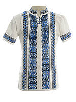 Мужская вязаная рубашка 20277 (короткий рукав)