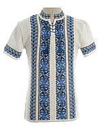 Мужская вязаная рубашка 20280 (короткий рукав)
