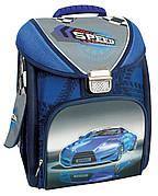 """Ранец школьный каркасно-трансформер 14 """","""" Blue Car """"711"""