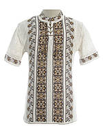 Мужская вязаная рубашка 20279 (короткий рукав)