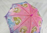 Детский зонтик эконом класса для девочки на карбоновой спице GR-2-4