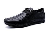 Туфли спортивные мужские Falcon, натуральная кожа, черные, р. 40 41