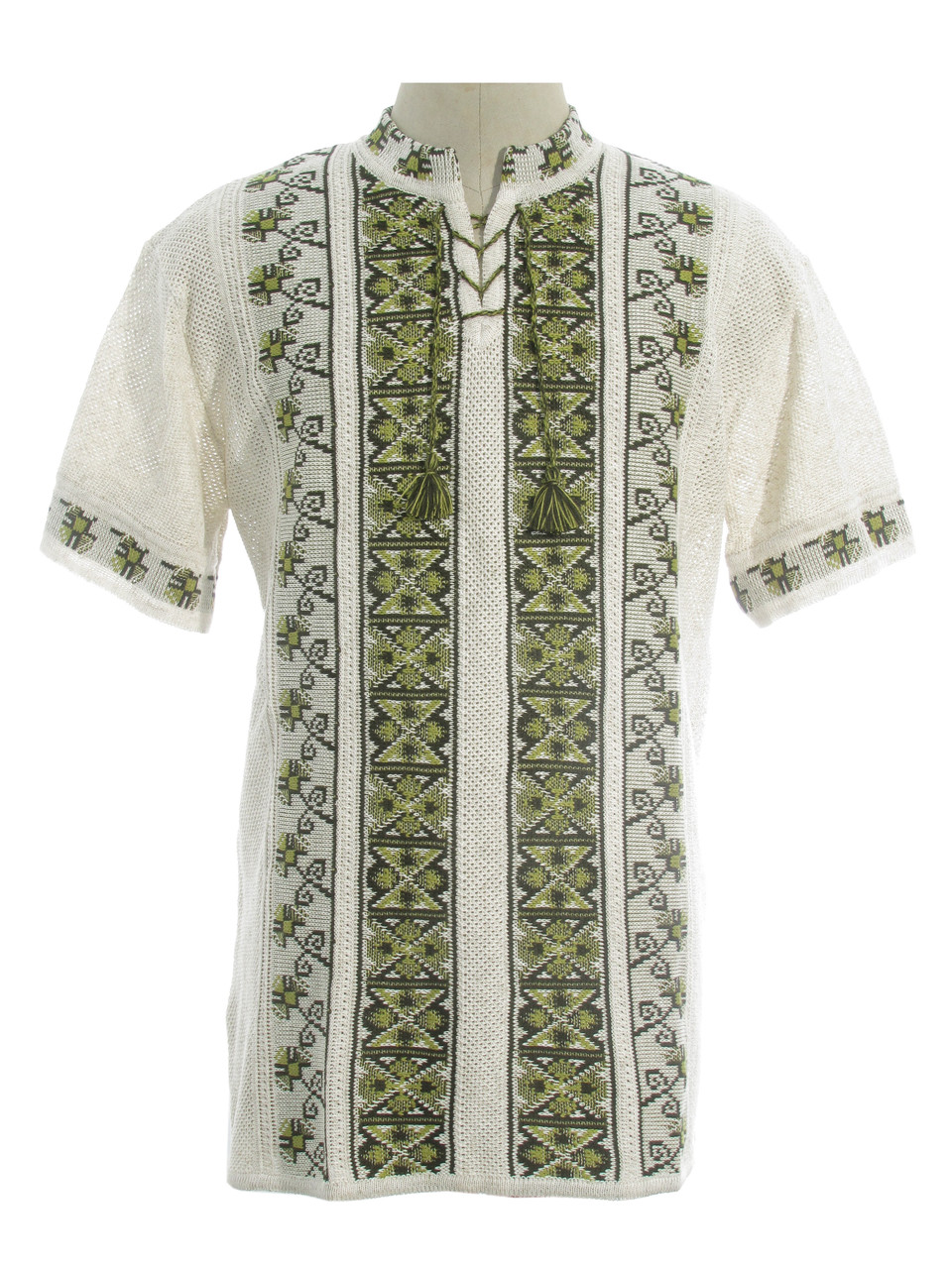 Мужская вязаная рубашка 20281 (короткий рукав)