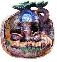 Фонтан с подсветкой и шариком интерьерный водопад пруд Фен шуй ДОМ Фонтан комнатный с подсветкой шар 30 см 219