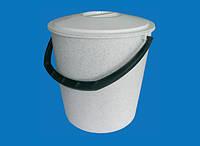 Ведро круглое с крышкой 10 л - холодная питьевая вода