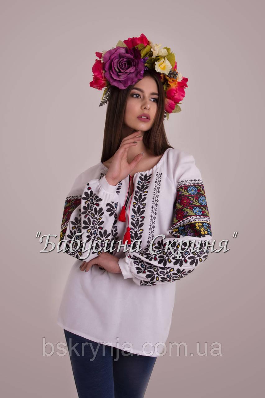 ... Заготовка Борщівської жіночої сорочки для вишивки нитками бісером  БС-120 2262334c36401